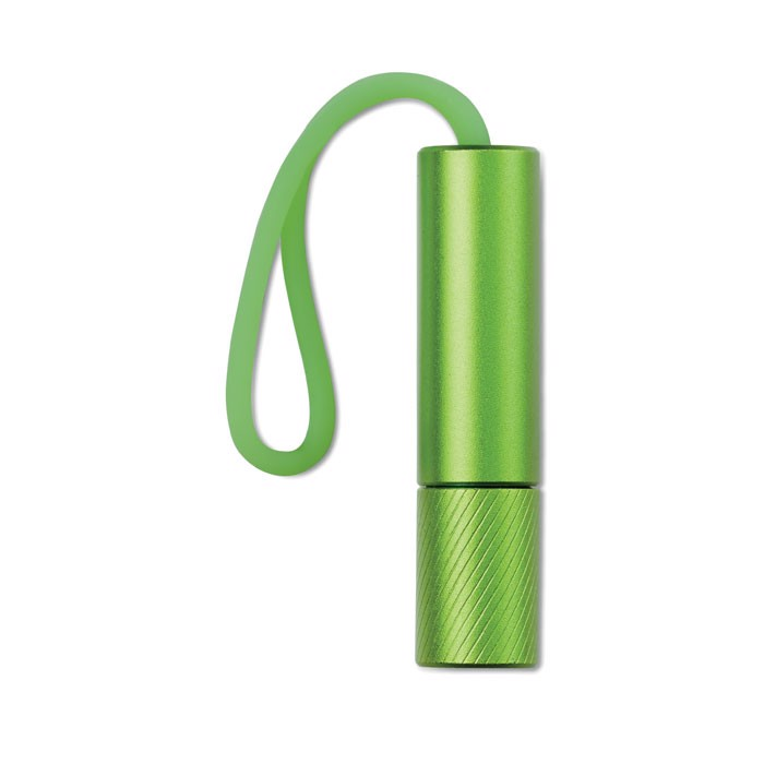 Aluminiowa latarka Mini Glow - zielony