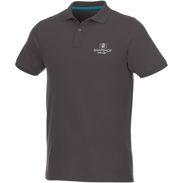 Beryl short sleeve men's GOTS organic GRS recycled polo - Storm Grey / S