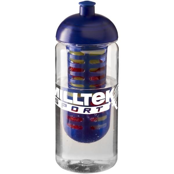 H2O Octave Tritan™ 600 ml dome lid bottle & infuser - Transparent / Blue