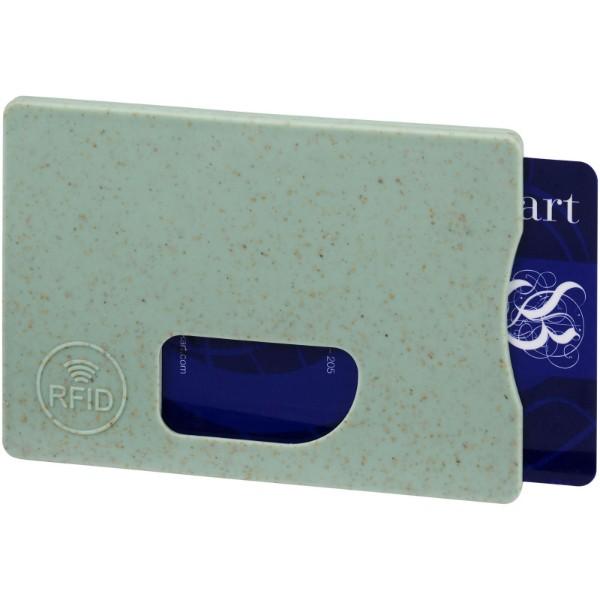 Straw RFID pouzdro na karty - Mátově Zelená