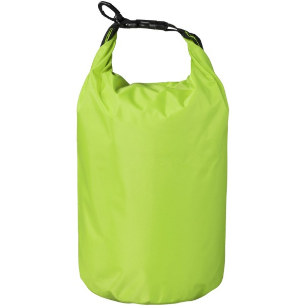 Nepromokavý vak Camper, 10 l, outdoorový styl - Limetka