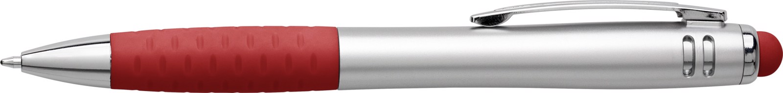 Multifunctional twist-action plastic ballpoint pen - Red