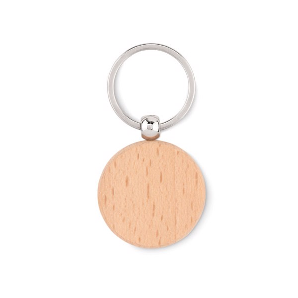 Round wooden key ring Toty Wood
