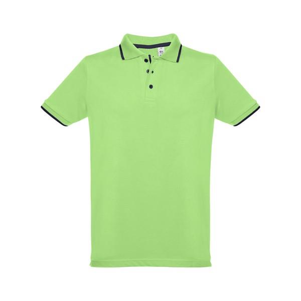 ROME. Ανδρική πόλο μπλούζα slim fit - Λαχανί / L