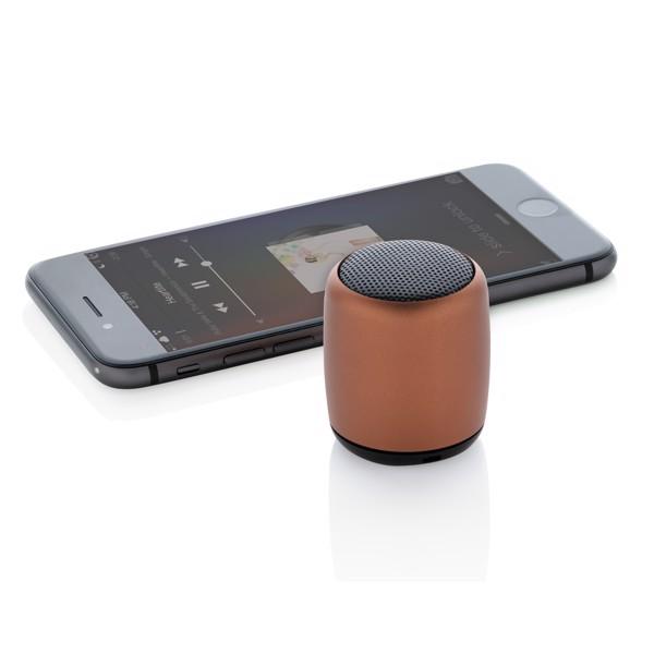 Mini aluminium wireless speaker - Brown