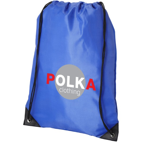 Condor polyester and non-woven drawstring backpack - Royal blue