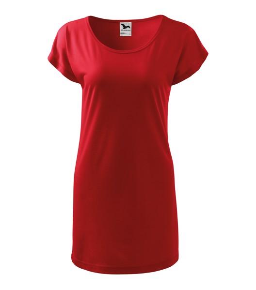 Tričko/šaty dámské Malfini Love - Červená / 2XL