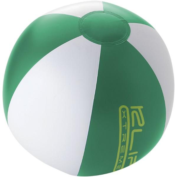 Palma solid beach ball - Green / White