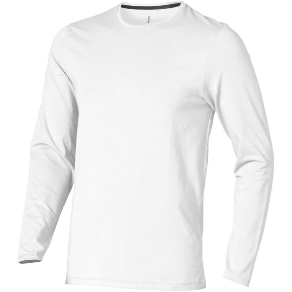 Ponoka long sleeve men's GOTS organic t-shirt - White / L