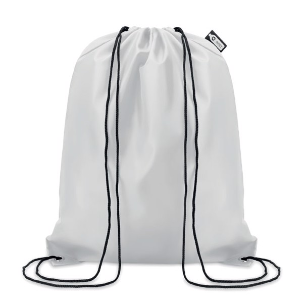 Drawstring 190T RPET Shooppet - White
