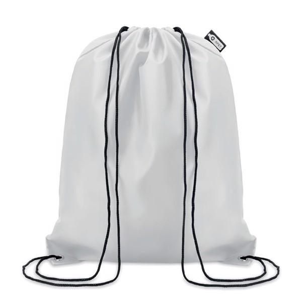 Worek ze sznurkiem RPET Shooppet - biały