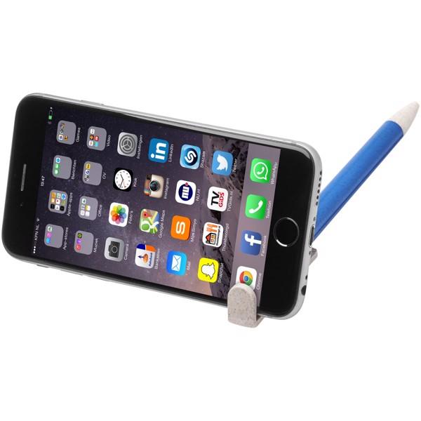 Medan wheat straw ballpoint pen and phone holder - Blue