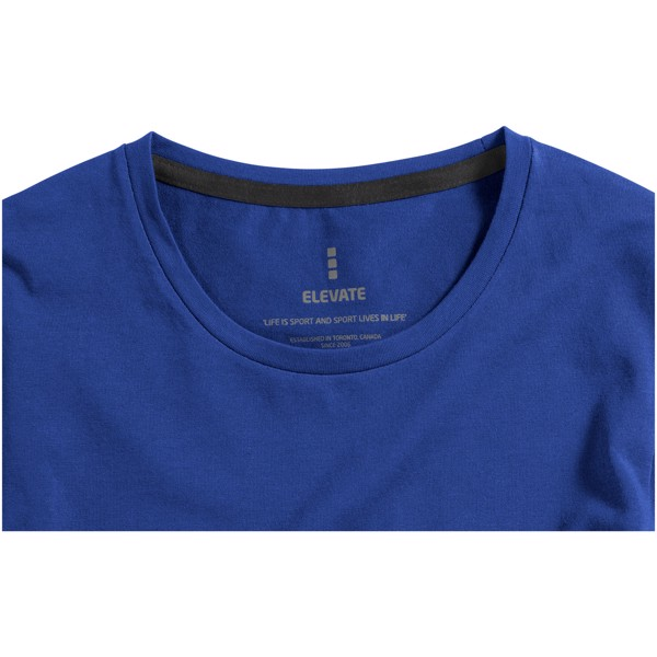 Ponoka long sleeve women's GOTS organic t-shirt - Blue / S