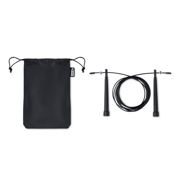 Speed rope in 210D RPET pouch
