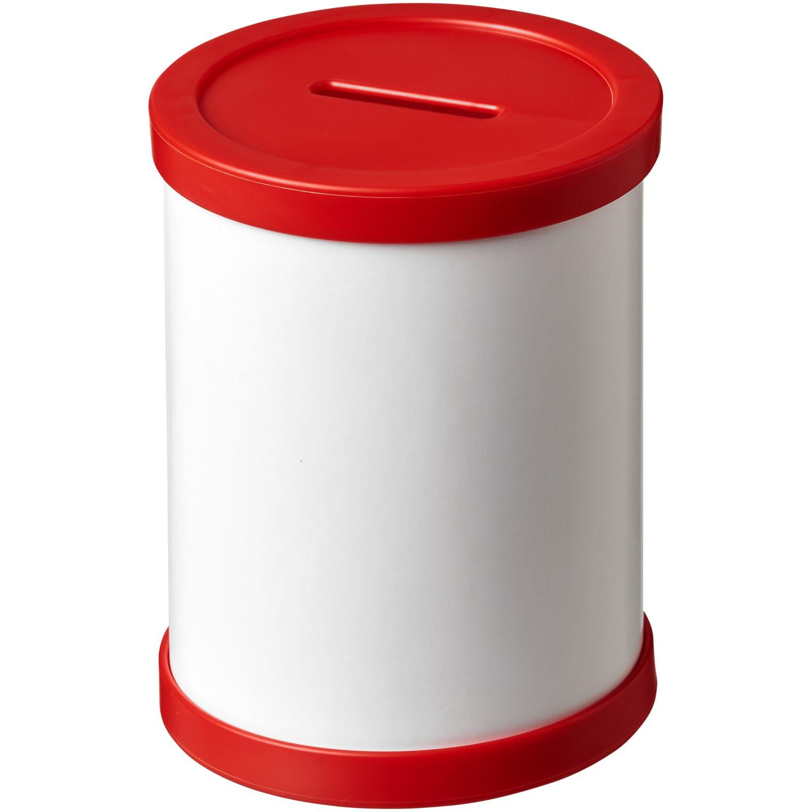Deva round card pen holder with plastic trim - Red