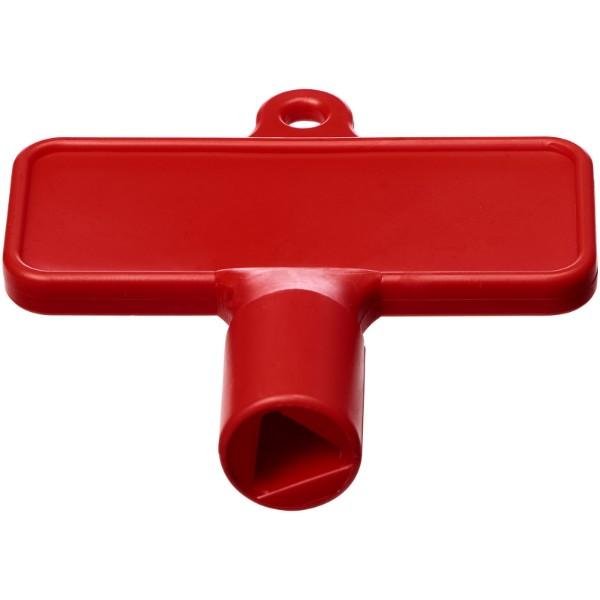 Maximilian obdélníkový univerzální montážní klíč - Červená s efektem námrazy