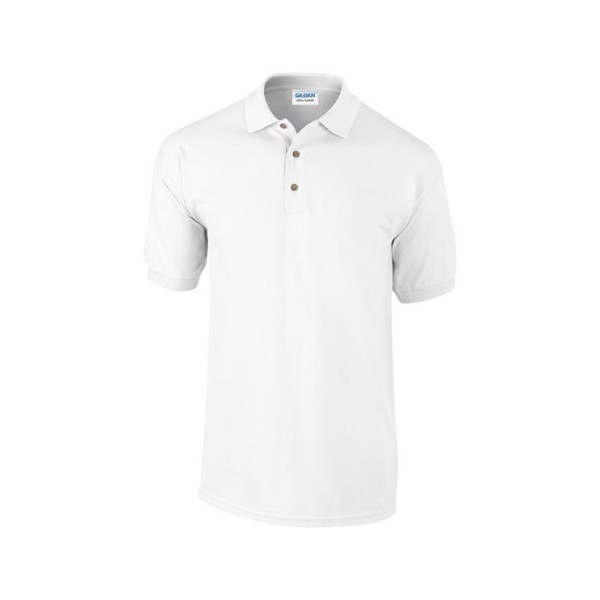 Unisex Polo Shirt 240 g/m2 Heavy Pique Polo 3800 - White / XXL