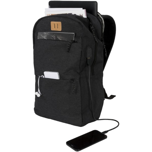 "Cason 15"" laptop backpack - Charcoal"
