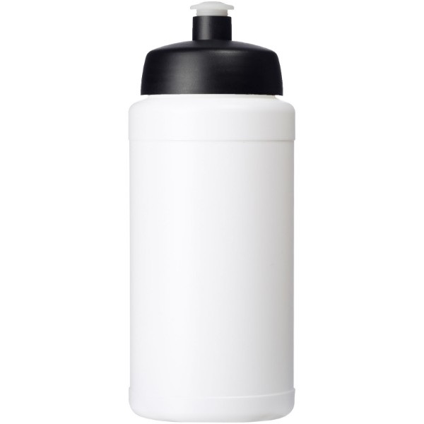 Baseline® Plus 500 ml bottle with sports lid - White / Solid black