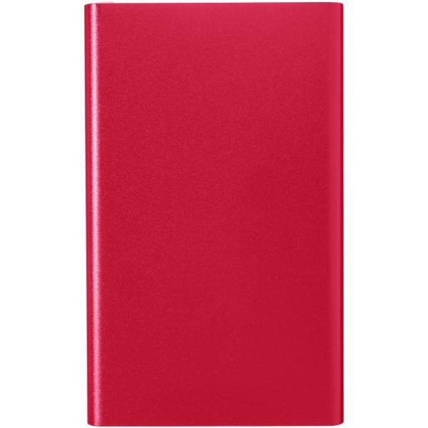 Hliníková powerbanka Pep 4 000 mAh - Červená s efektem námrazy