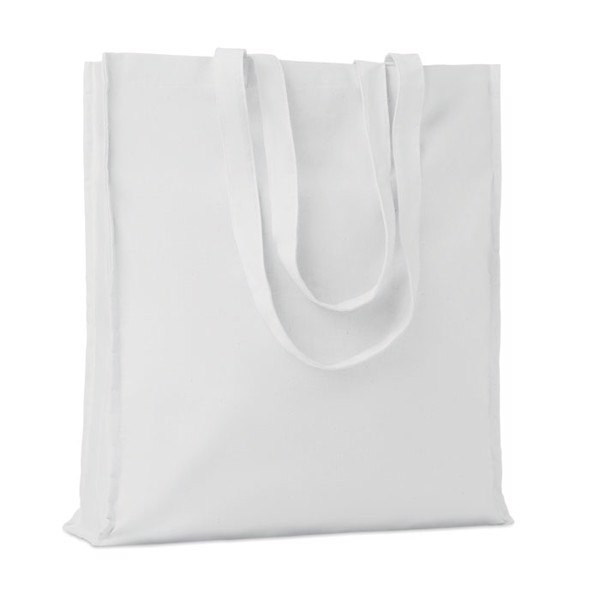 Cotton shopping bag w/ gusset Portobello - White
