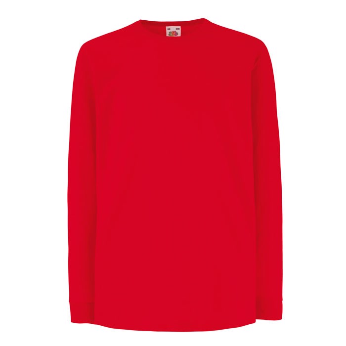 Kinder T-Shirt 165 g/m² Kids Ls Value Weight 61-007-0 - Red / XS