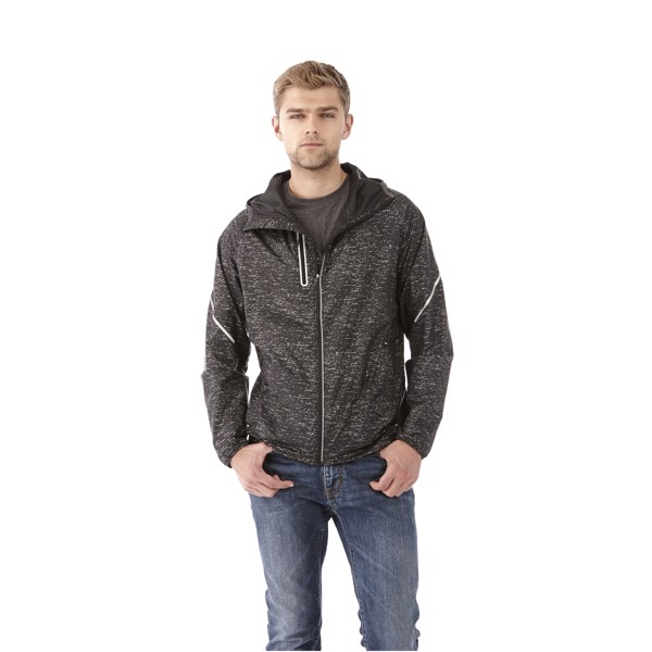 Signal reflective packable jacket - Solid Black / S