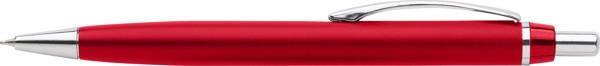 ABS pen holder with ballpen - Red