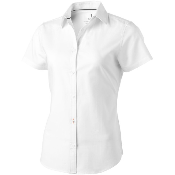 Manitoba short sleeve ladies shirt - White / XS