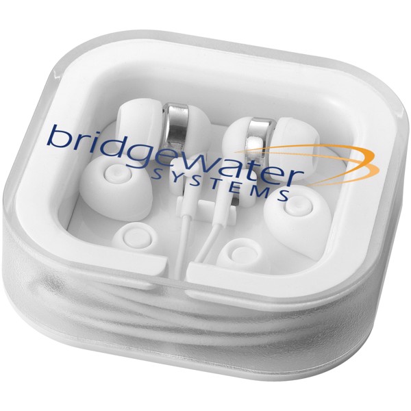 Sargas earbuds with microphone - White
