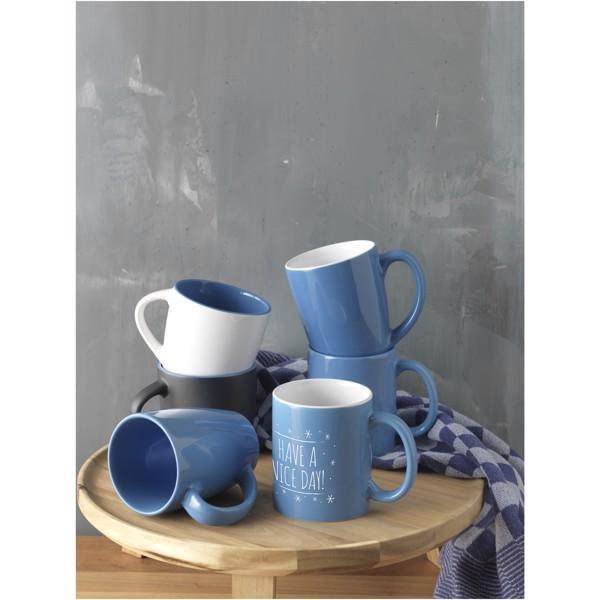 "Taza de cerámica de 330 ml ""Java"" - Naranja / Blanco"