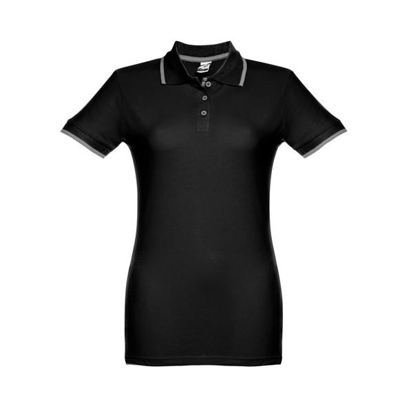 ROME WOMEN. Γυναικεία πόλο μπλούζα slimfit - Μαύρο / XL
