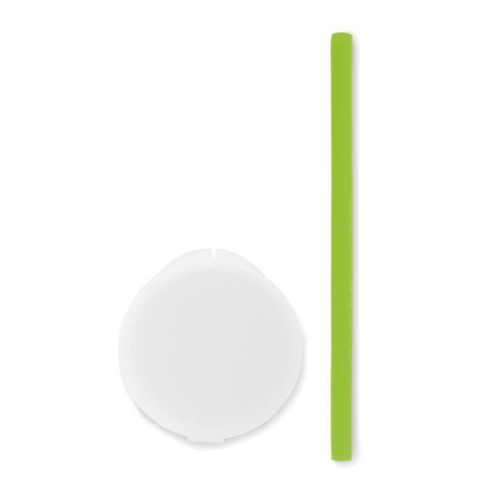 Silicone straw in PP case Flexy Straw - Green