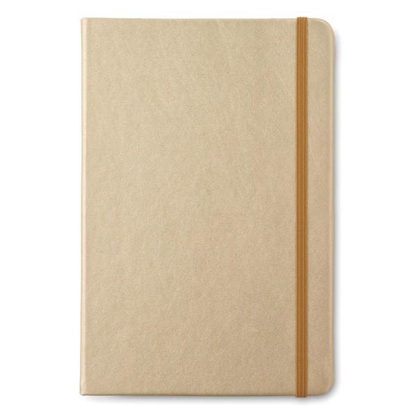 Notatnik A5 w linie Goldies Book - matowy złoty