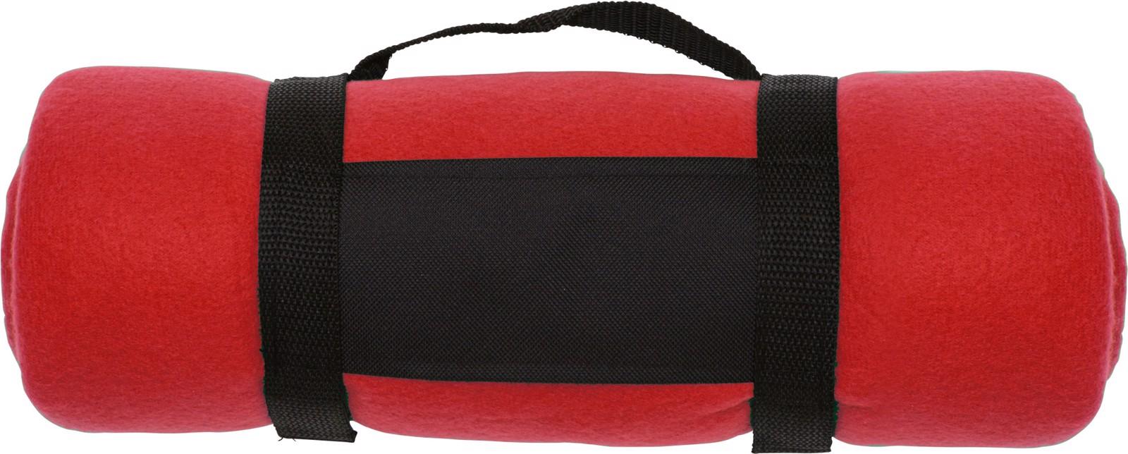 Polar fleece (170-180 gr/m²) blanket - Red