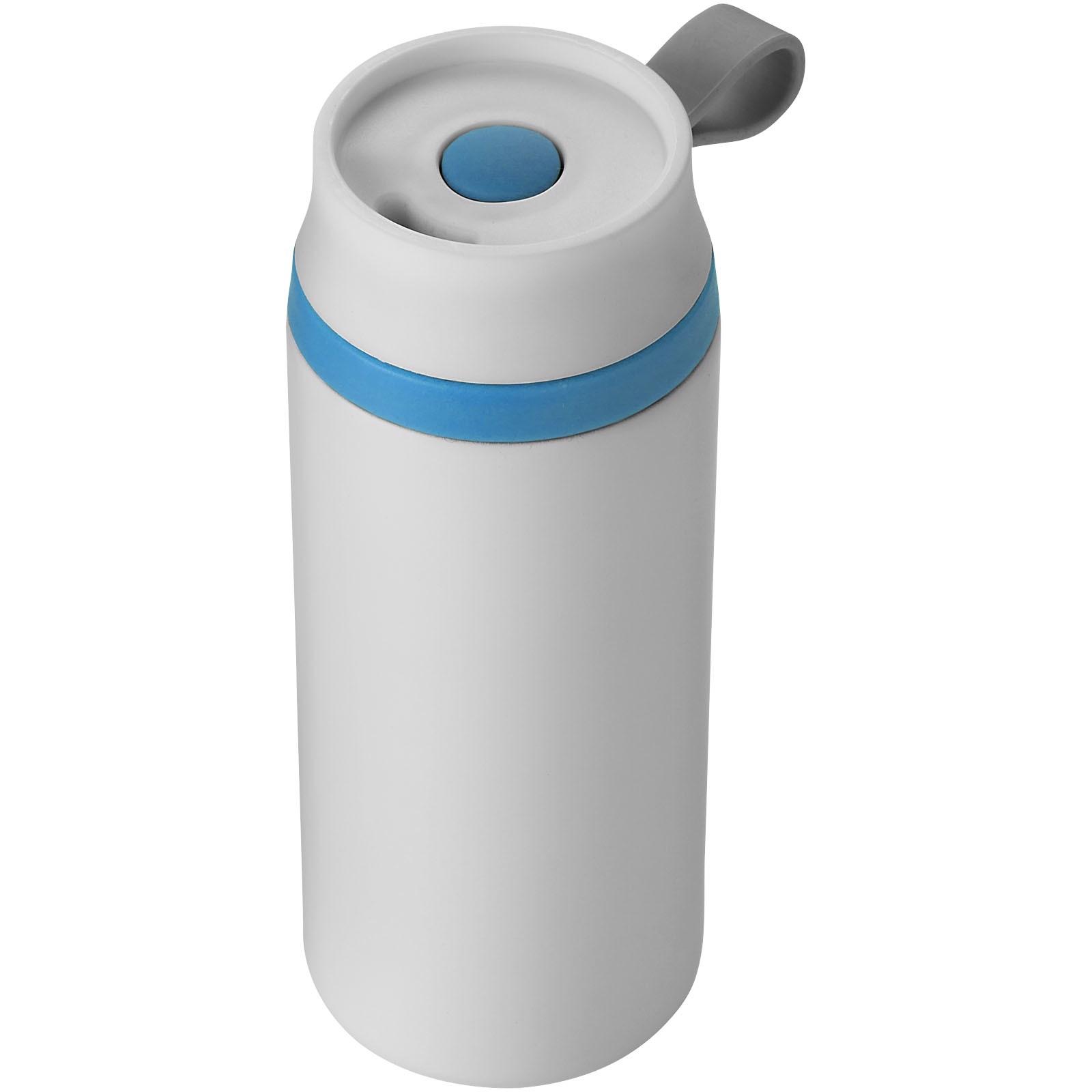 Vodotěsná termoska Flow - Bílá / Process blue