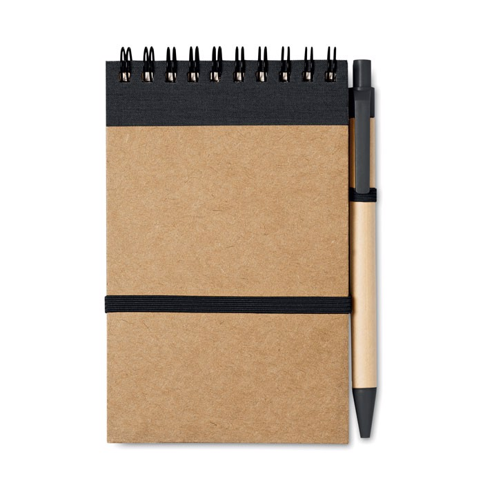 Notes z długopisem 70 kartek Sonora - czarny