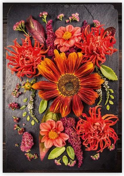 Dřevěný obraz Flowers