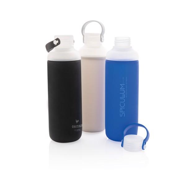 Nepropustná skleněná láhev na vodu - Černá
