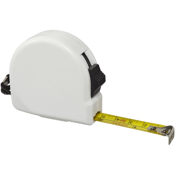 Clark 3 metre measuring tape - White