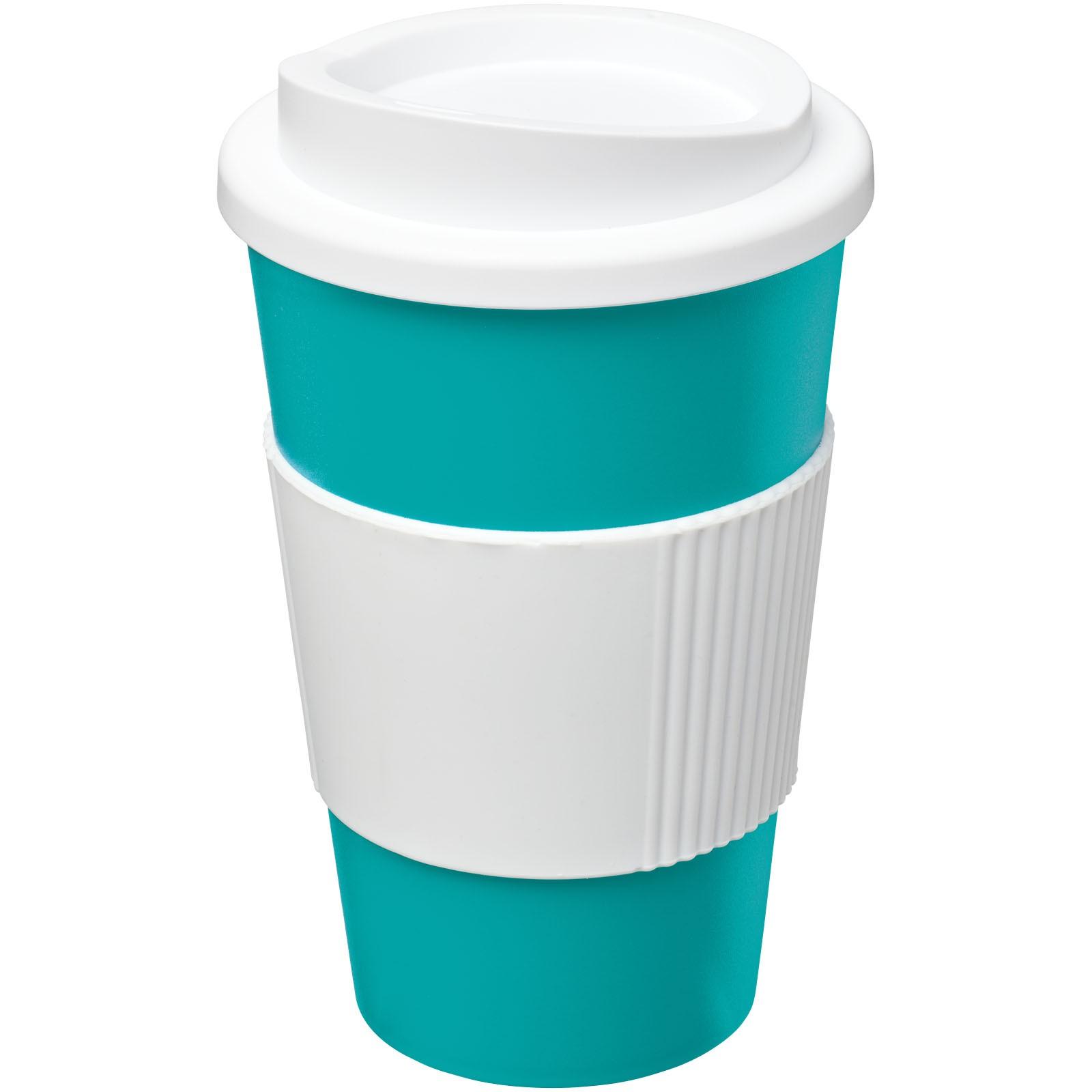 Termo hrnek s rukojetí Americano® 350 ml - Aqua blue / Bílá
