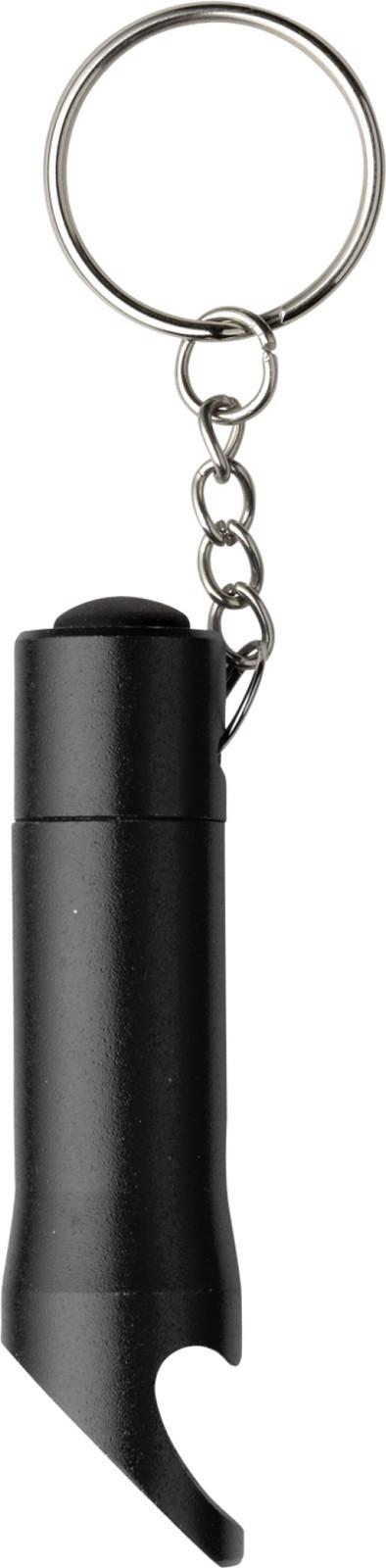 Aluminium 2-in-1 key holder - Black