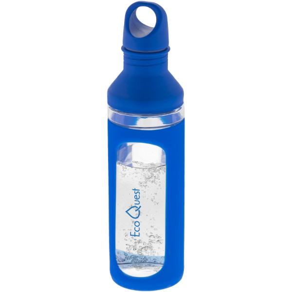 Hover 590 ml glass sport bottle - Blue / Transparent