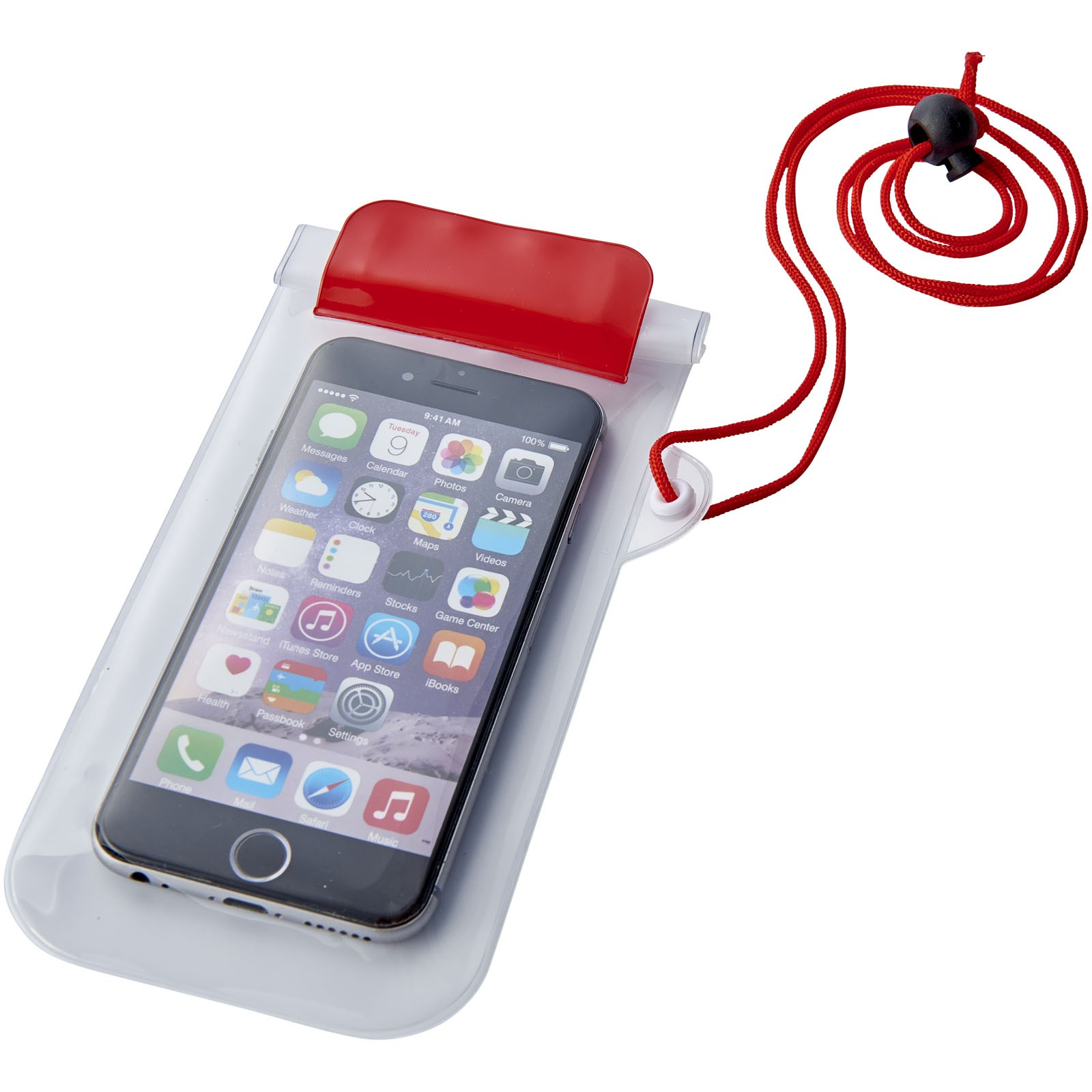 Mambo waterproof smartphone storage pouch - Red