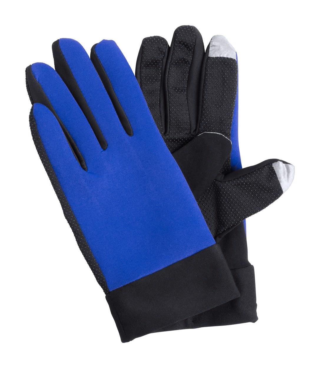 Dotykové Sportovní Rukavice Vanzox - Modrá / Černá