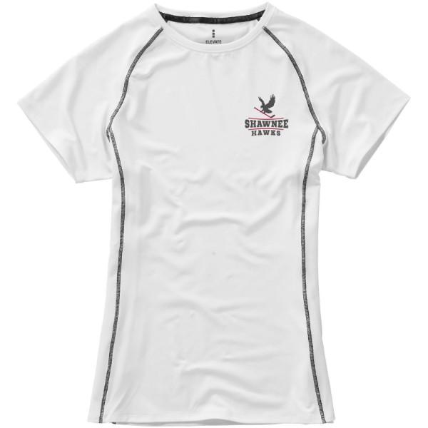 Dámské triko Kingston s krátkým rukávem, s povrchovou úpravo - Bílá / XXL