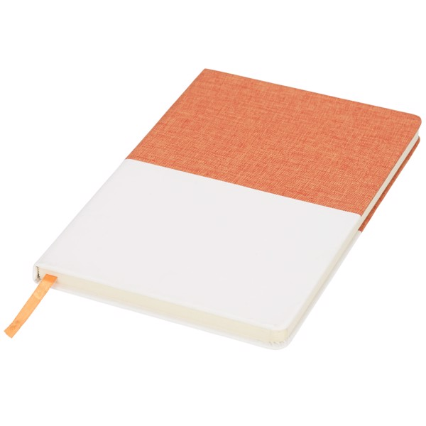 Two-tone A5 canvas notebook - Orange