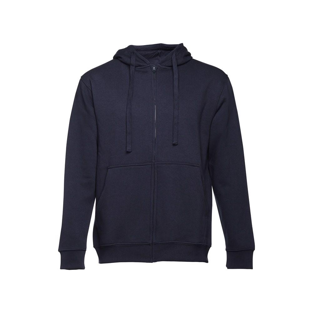 AMSTERDAM. Pánská mikina na zip s kapucí - Námořnická Modrá / L