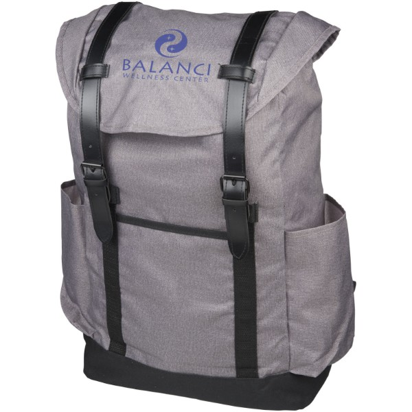 "Thomas 16"" laptop backpack - Heather grey / Solid black"