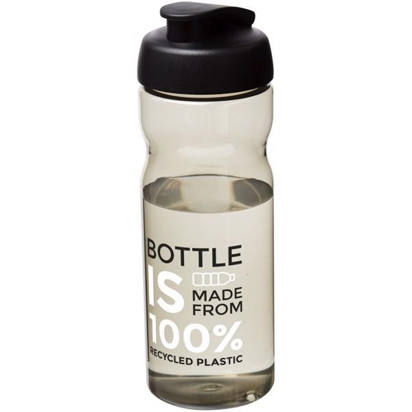 Sportovní láhev s vyklápěcím víčkem H2O Eco 650 ml - Karmínová červená / Černá